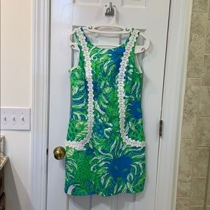 NWOT Lilly Pulitzer Dress with White Lace Detail